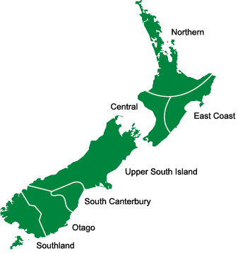 NZ Region Map